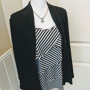 EUC Kim Rogers Petite Multi-layered Top